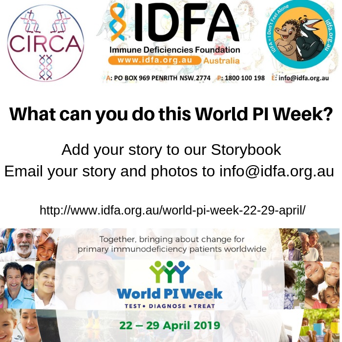 World PI Week Share your Story - Australian patient storybook